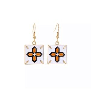 Mosaic Style Earrings